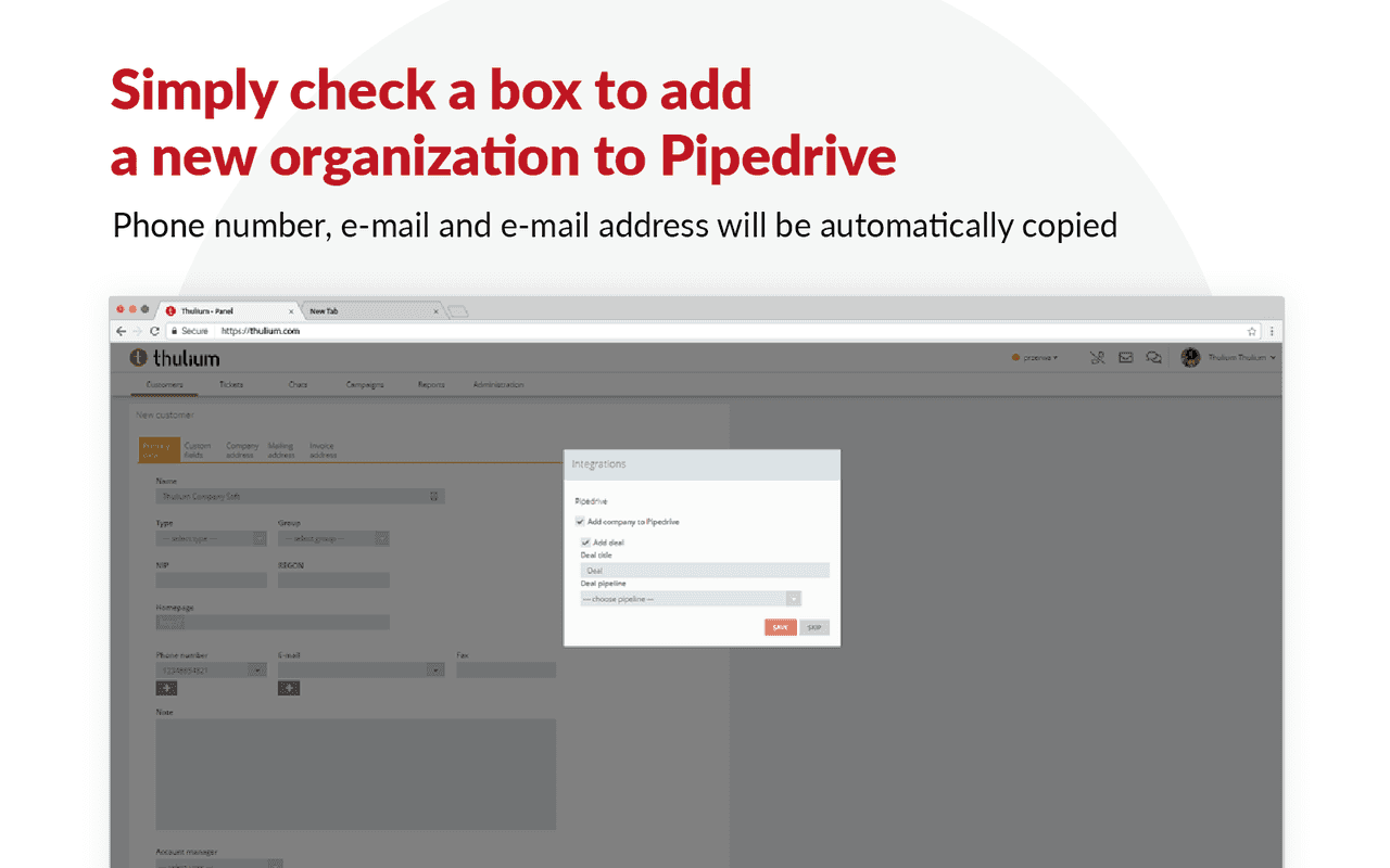 Pipedrive integration